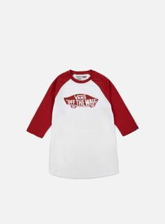 Vans - OTW Mono Raglan T-shirt, White/Crimson 1