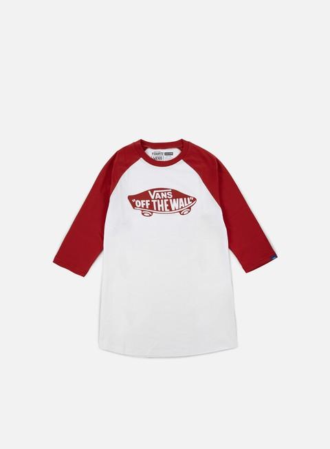 t shirt vans otw mono raglan t shirt white crimson