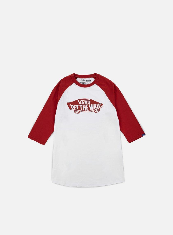 Vans - OTW Mono Raglan T-shirt, White/Crimson