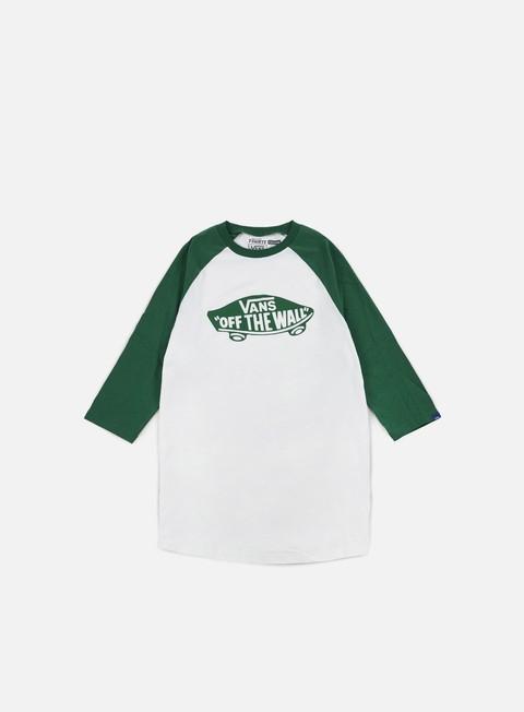 t shirt vans otw mono raglan t shirt white verdant green