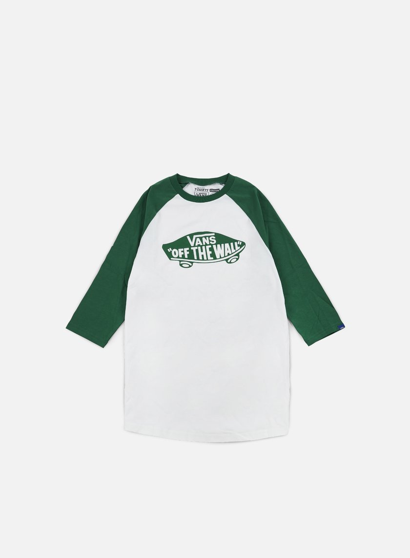 Vans - OTW Mono Raglan T-shirt, White/Verdant Green
