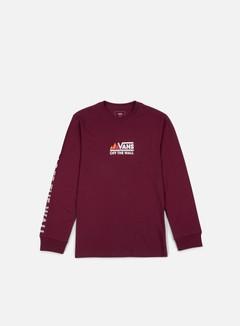 Vans - Peaks Camp LS T-shirt, Burgundy 1