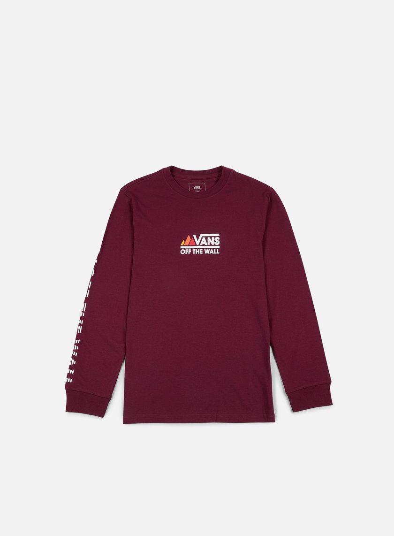 Vans - Peaks Camp LS T-shirt, Burgundy
