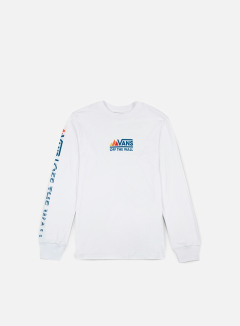 t shirt vans peaks camp ls t shirt white