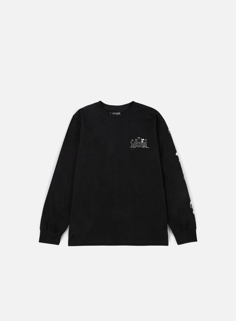 t shirt vans peantus ls t shirt black