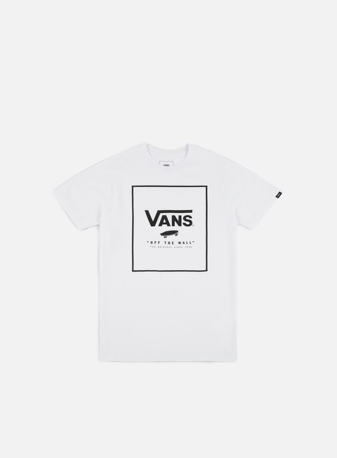 t shirt vans print box t shirt white black
