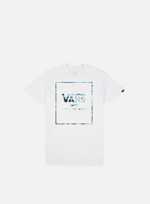 t shirt vans print box t shirt white wave fill