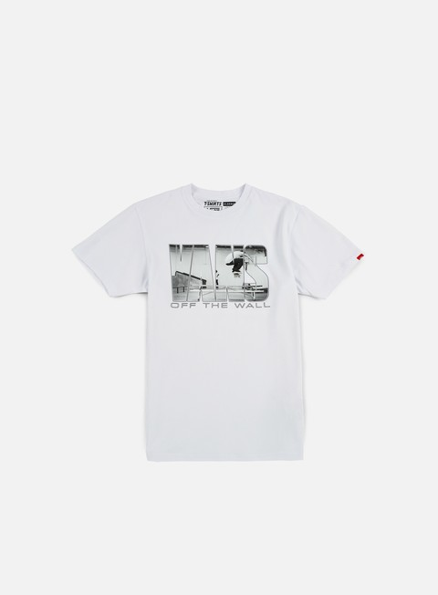 t shirt vans push through ii t shirt white