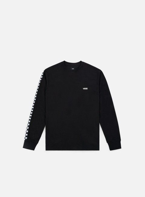 t shirt vans side check ls t shirt black