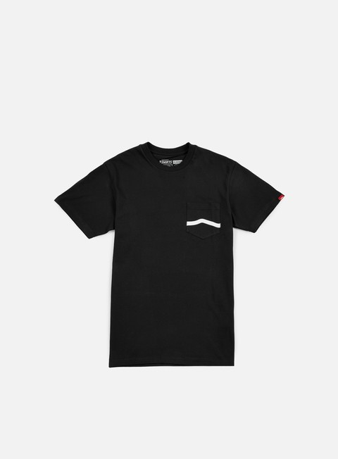 t shirt vans side stripe pocket t shirt black