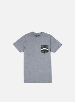 Vans - Side Stripe Pocket T-shirt, Heather Grey/Tonal Palm