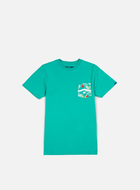 t shirt vans side stripe pocket t shirt teal baltic decay palm