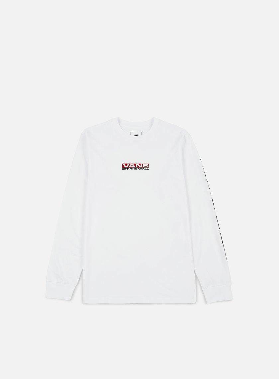 Vans - Side Waze LS T-shirt White - VA36GBWHT T-shirts Long Sleeve