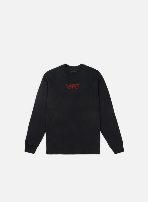 t shirt vans sketch tape ls t shirt black