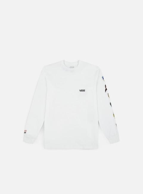 t shirt vans vans x marvel characters ls t shirt white