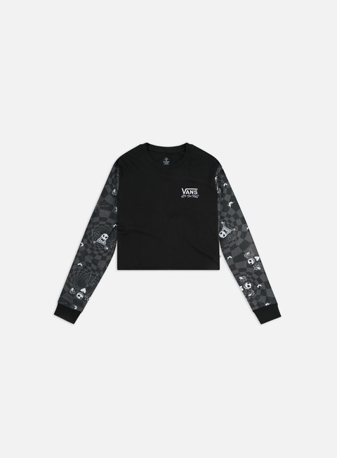 Long Sleeve T-shirts Vans WMNS Jacks Check Bf Crop LS T-shirt