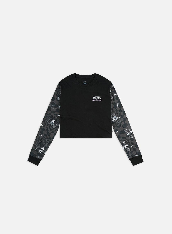 Vans WMNS Jacks Check Bf Crop LS T-shirt