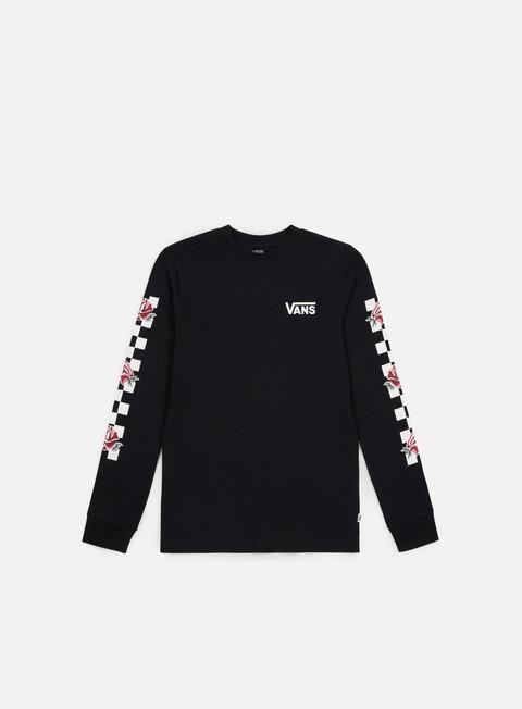 t shirt vans wmns patchwork floral ls t shirt black