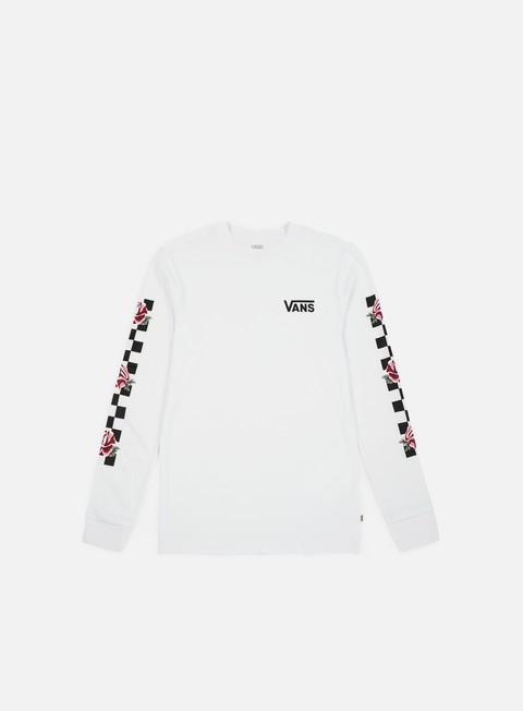 t shirt vans wmns patchwork floral ls t shirt white