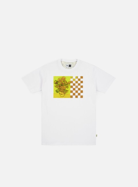 t shirt vans wmns van gogh sunflower boyfriend t shirt white
