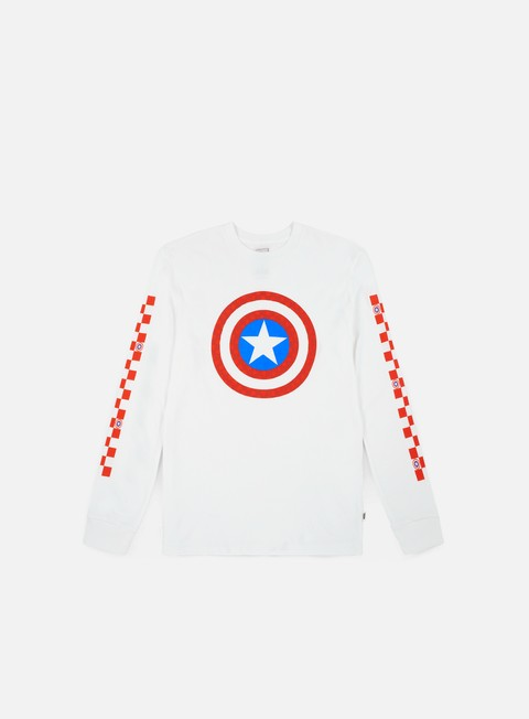 t shirt vans wmns vans x marvel captain shields ls t shirt white
