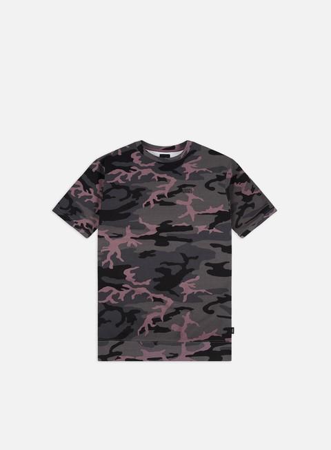 Outlet e Saldi T-shirt a Manica Corta Vans Wolcott Oversized Black Plum Camo T-shirt