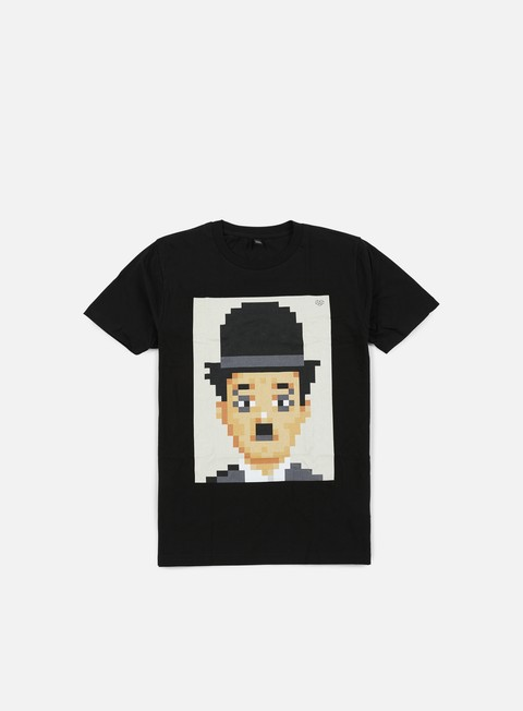t shirt very important pixels charlie t shirt black