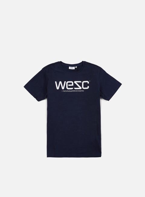 t shirt wesc wesc t shirt navy blazer white
