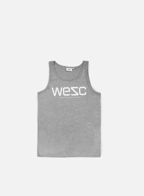 t shirt wesc wesc tank top grey melange
